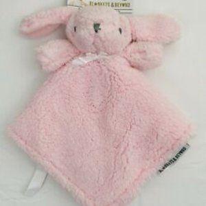 Blankets & Beyond Pink Bunny Security Blanket Nunu